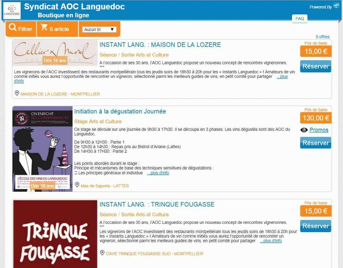 boutique en ligne Languedoc