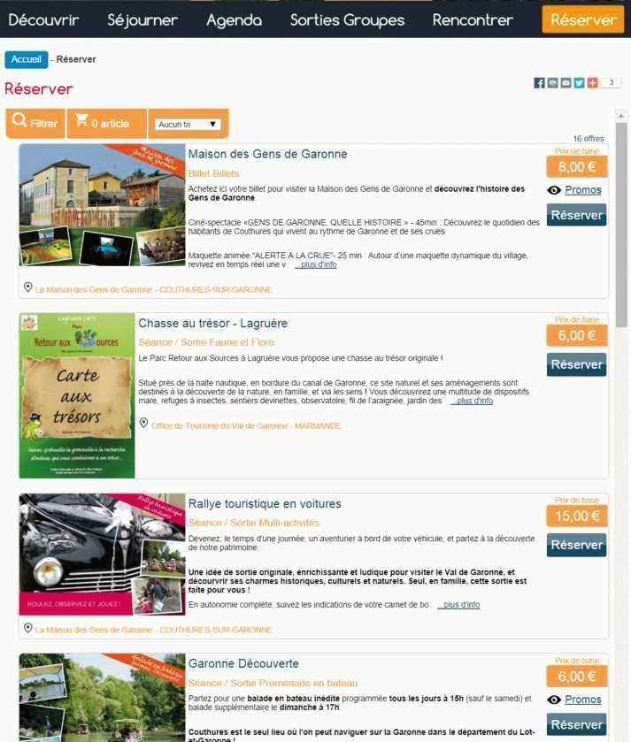 boutique office de tourisme Gens de Garonne